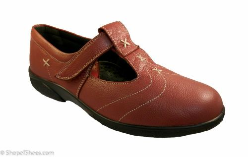 Avignon Ladies russett red leather wide fit Orthotic Shoe 4E